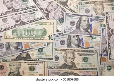 Background of USA bank notes