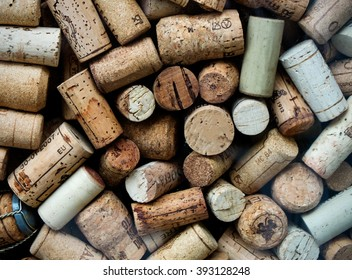 Background of used Italian wine corks
