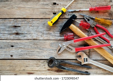 Background of various construction tools - Shutterstock ID 1723098547