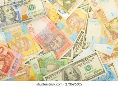 Background of various money, currencies