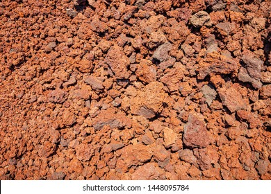 Background of volcanic porous slag with a high iron content