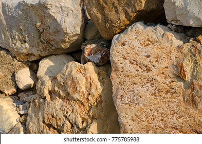 Background a wall from big stones