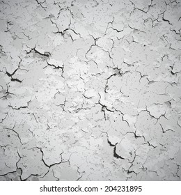 Background - wall covered with cracks and stains