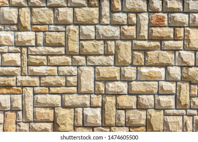 background of wall of sandstone pattern