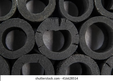 Background and Wallpaper or texture of Bamboo charcoal at overlapping.