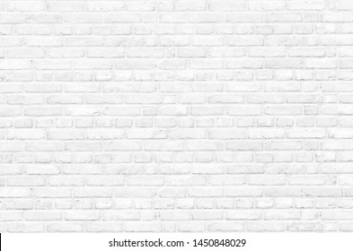 Background of a white brick old wall. Clear white brick wall texture.