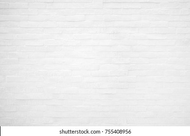 Background of white brick wall pattern texture.