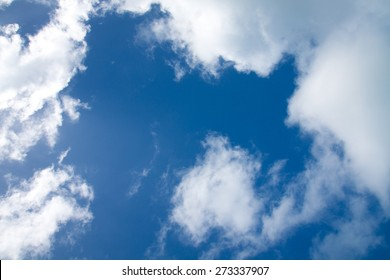 Background with White clouds on the blue sky