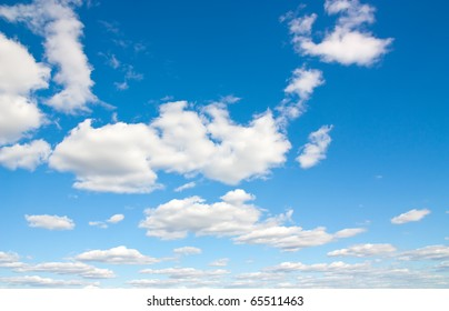 Background with white clouds on the sky