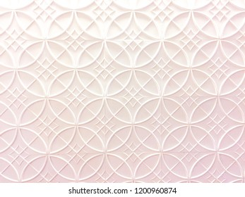 The background of white geometric pattern on the wall