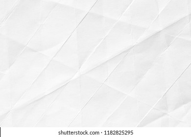 The background is white with an old surface, with cracks and kinks. Texture of paper in retro style, crumple.