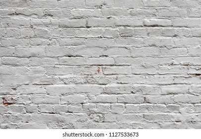background of white painted brick wall