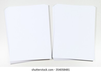 Background white paper stack for writing