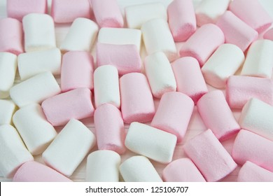 the background of white and pink marshmallow