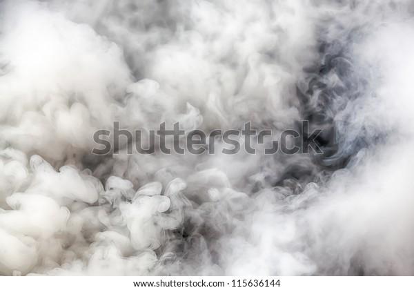 Background of white smoke