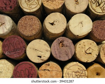 background from wine corks