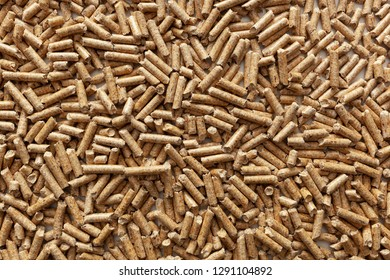 Background of wood pellets for stoves and boilers.