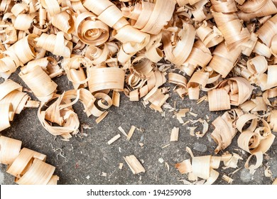 Background of wood shavings
