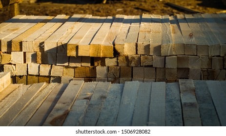 background of wooden bars, textures