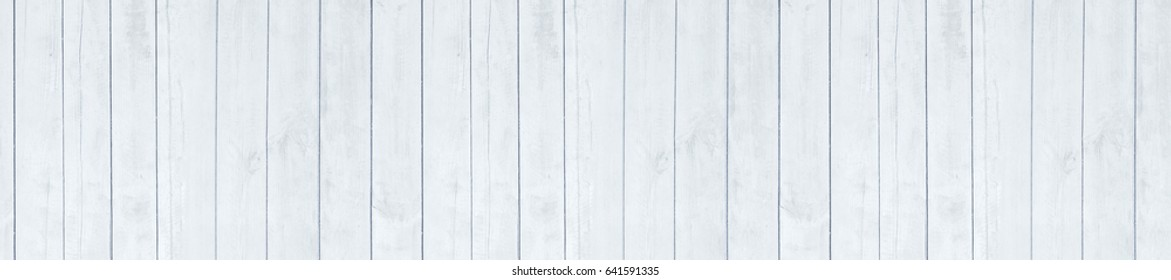 Background wooden boards of  white color vertical panels. panorama