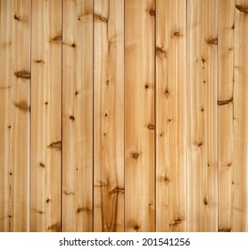 Background of wooden red cedar planks showing woodgrain texture