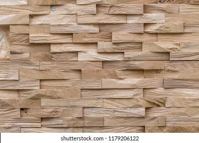 Background of wooden tile panels
