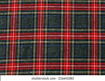 RED TARTAN PLAID CHECK Designer Fabric Scottish Royal Stewart 140cm wide canvas