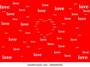 background with the word love