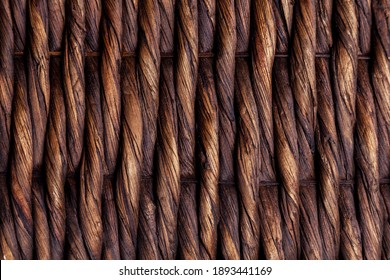 Background woven from willow branches. Natural product.