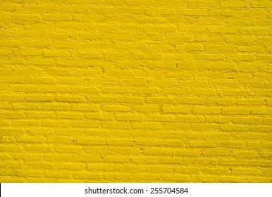 Background of yellow brick wall