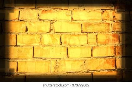 background yellow brick wall