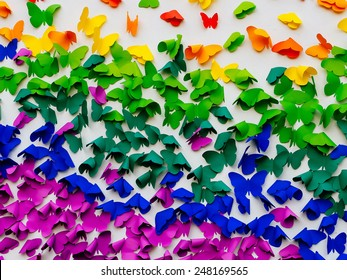 Background,paper with colorful butterfly