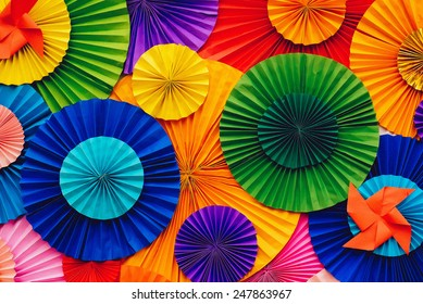 Background,paper with colorful circle