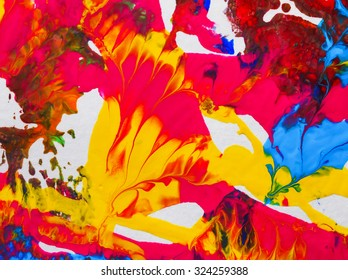 backgrounds abstract painting acrylic water on white paper arts