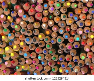 backgrounds of many colored pencils at preschool