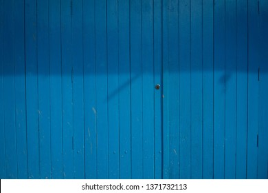Backgrounds Old blue wooden door