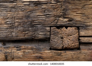 Backgrounds and textures: aged weathered wood texture, close-up shot