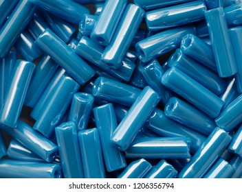 Backgrounds and textures: blue beads assortment, abstract background