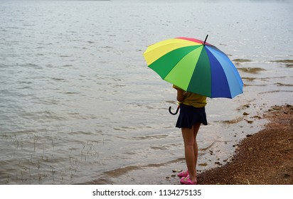 Backgrounds Textures Multi colored rainbow umbrella