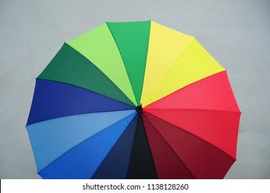 Backgrounds Textures Multi colored rainbow umbrella