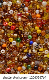 Backgrounds and textures: multicolor beads assortment, abstract background