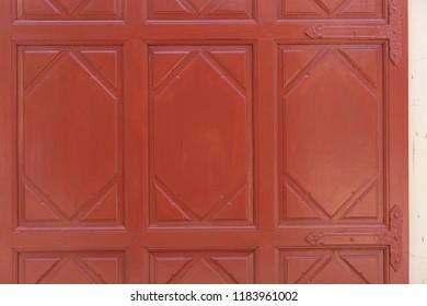 Backgrounds Textures Old Red wood door