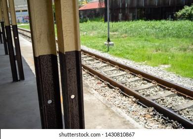Backgrounds Textures Railway in thailand