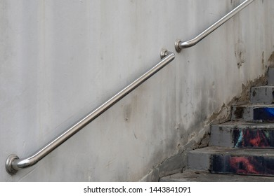 Backgrounds Textures Stainless steel railing