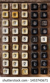 Backgrounds and textures: very old obsolete numeric keyboard