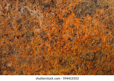 Backgrounds and textures: very old and rusty metal surface, industrial abstract
