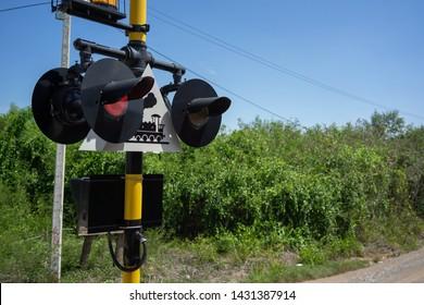 Backgrounds Train warning lights road