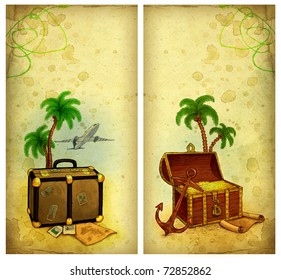 Backgrounds with travel illustration