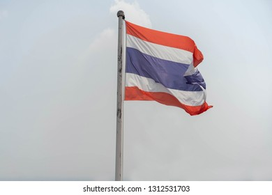 Backgrounds Wind Thailand flag