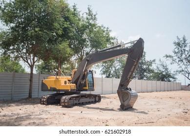 backhoe, backhoe at a construction